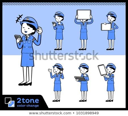 2tone type police Women_set 06 Stock photo © toyotoyo