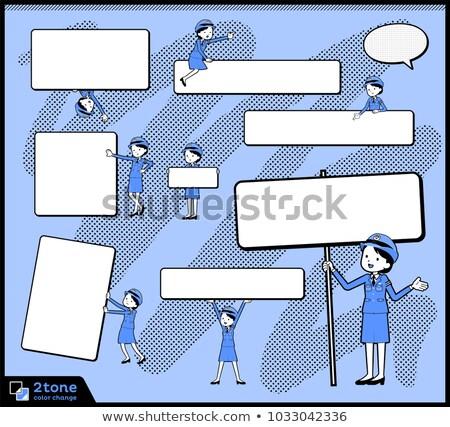タイプ 警察 13 女性 ボックス 青 ストックフォト © toyotoyo