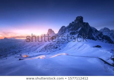 Landscape with twilight in the mountains Stock photo © Kotenko