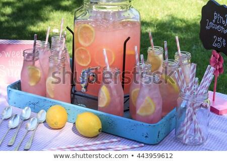 glass jars filled with refreshing lemonade stock photo © dash