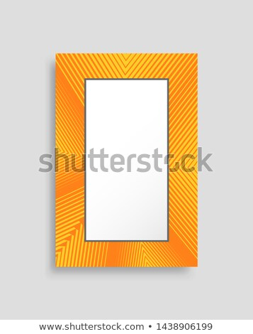 Bright Yellow Vertical Photo Frame with Stripes Stock photo © robuart