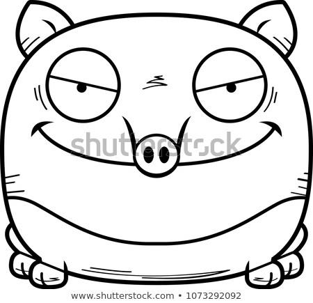 Kwaad cartoon illustratie naar grafische boos Stockfoto © cthoman