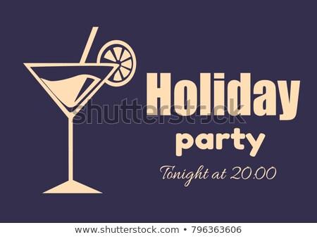 zomer · nacht · cocktail · party · promo · poster · drinken - stockfoto © robuart