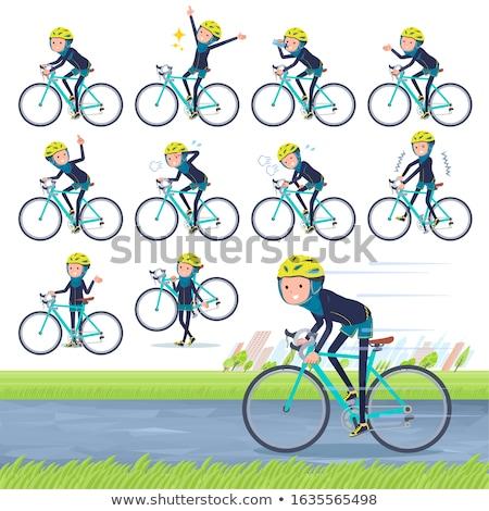 Arab women_road bike Stock photo © toyotoyo