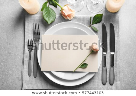 beautifully served table in a restaurant Stock photo © ruslanshramko