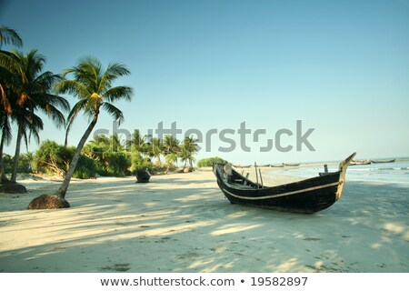 Barco ilha Bangladesh longa exposição praia Foto stock © bdspn
