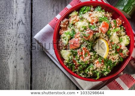 Couscous salada caseiro carne presunto romã Foto stock © grafvision