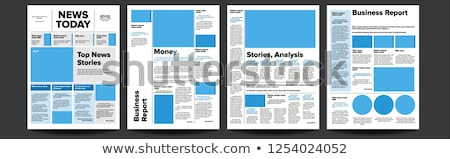 newspaper vector with headline images news page articles newsprint reportage information press stock photo © pikepicture