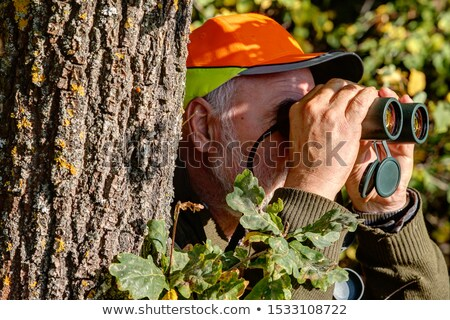 caçador · binóculo · esportes · pistola · ver · masculino - foto stock © goce