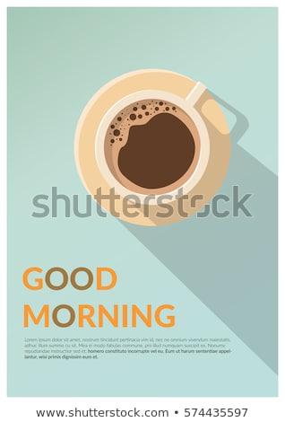 Tekst Dzień Dobry Filiżankę Kawy Górę Widoku