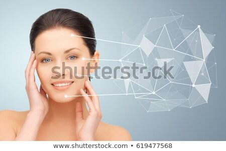 Güzel bir kadın düşük projeksiyon yüz güzellik bilim Stok fotoğraf © dolgachov