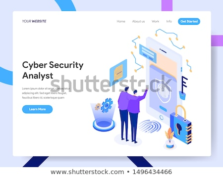 Cyber security management concept landing page. Stock photo © RAStudio