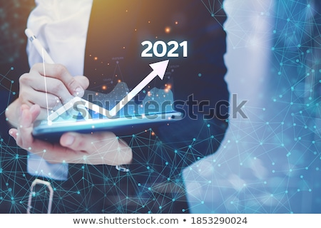 Business Strategy Process, Presenter with Charts Stock photo © robuart