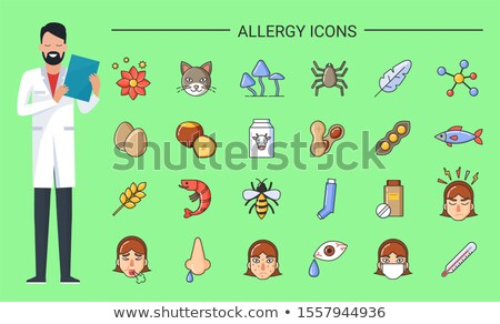Allergy Icons Doctor with Prescription in Hands Stock photo © robuart