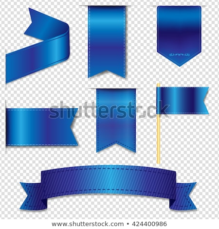 Blue Web Ribbons Set Transparent Background Stock photo © adamson