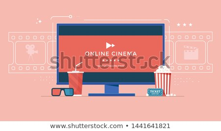 online cinema flat concept icons stock photo © netkov1