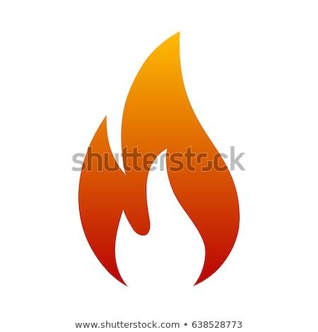 Yanan alev vektör yalıtılmış ikon yangın Stok fotoğraf © robuart