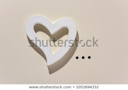 white heart and points of ellipsis Stock photo © nito