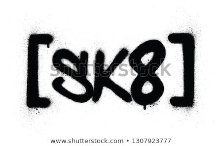 Graffiti afkorting zwart wit skate graffiti splatter Stockfoto © Melvin07