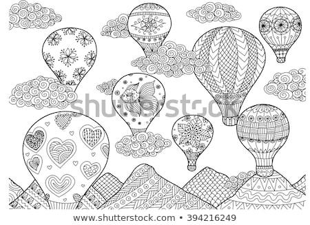 Kleurrijk boek ballon hemel illustratie kunst Stockfoto © colematt