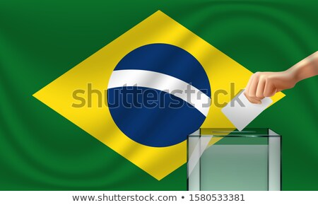 Casa bandera Brasil blanco casas Foto stock © MikhailMishchenko