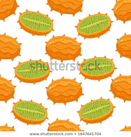 Exotique juteuse fruits vecteur isolé affiche Photo stock © robuart