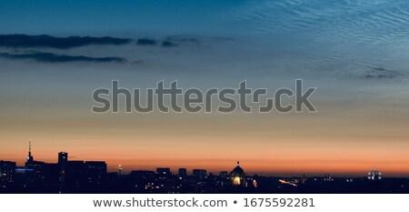 Atomium landmark building at sunset Stock photo © frimufilms