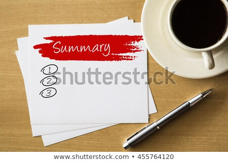 Handwritten Conclusions Blank List Concept Stock photo © ivelin