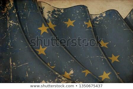 Vieux papier imprimer pavillon européenne Union Photo stock © nazlisart