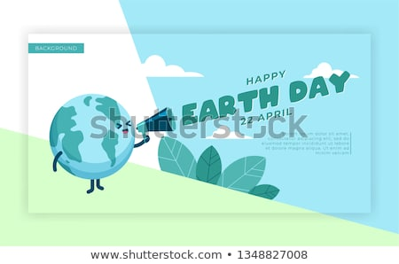 International Earth Day web banner for planet love Stock photo © cienpies