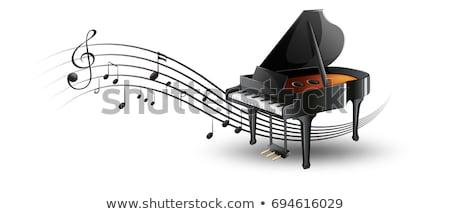Piano à queue notes de musique illustration musique fond art Photo stock © colematt