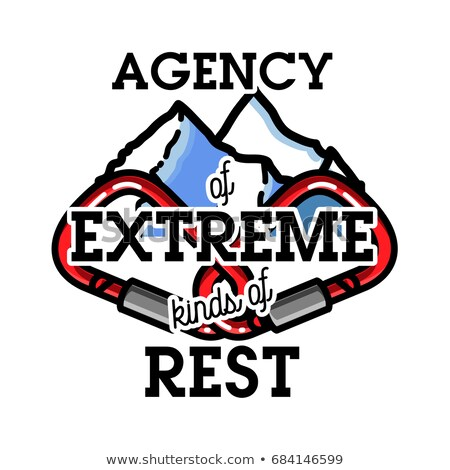 Vintage agence extrême étiquettes badges design Photo stock © netkov1