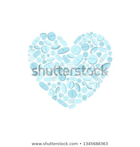 сердце белый таблетки розовый любви Сток-фото © sonia_ai
