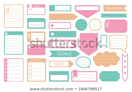 Notebook with Bookmarks Set of Isolated Icons Foto d'archivio © robuart