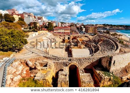 Római épület Európa romok turizmus part Stock fotó © LianeM