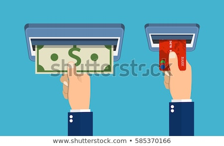 Withdraw Flat Vector Icon. Stock photo © smoki