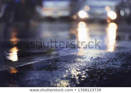Onweersbui nacht illustratie natuur regen kunst Stockfoto © colematt