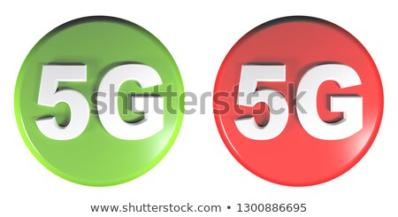 Piros felirat szimbólum ikon gomb izolált Stock fotó © Oakozhan