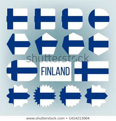 Finlândia bandeira coleção descobrir vetor Foto stock © pikepicture