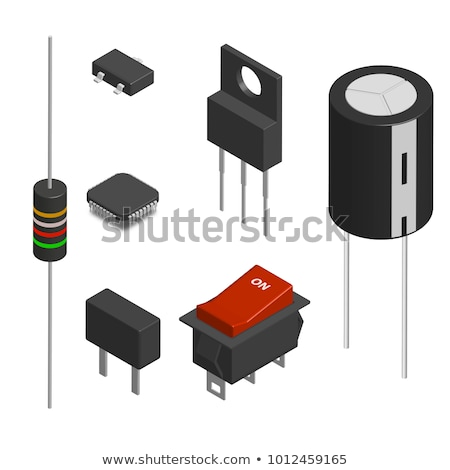 Set Of Different 3d Electronic Components Vector Illustration Сток-фото © kup1984