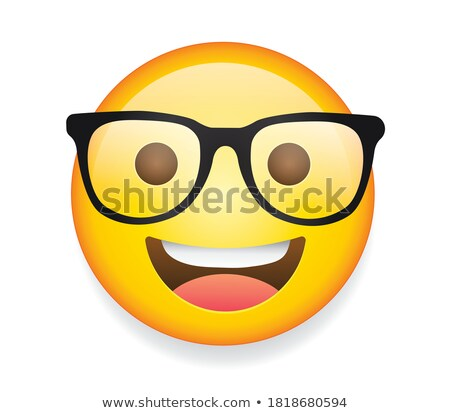 Nerdy Geek Emoji Emoticon Icon Cartoon Character Stock photo © Krisdog
