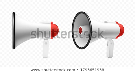 3D hangfal piros kép fehér üzlet Stock fotó © AlexMas