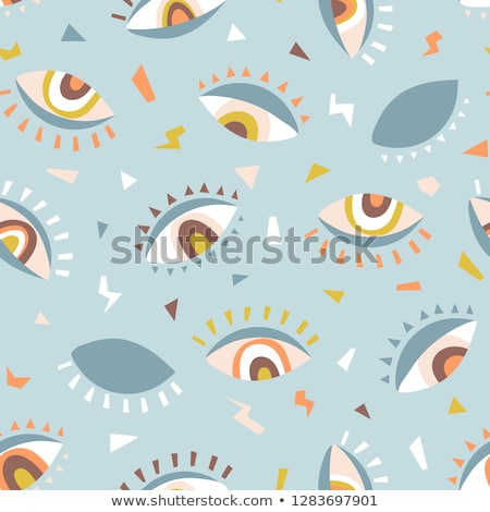 Colored Hand drawn science pattern Stock photo © netkov1