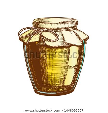 jarファイル · イチゴ · ジャム · 秋 · アイコン · 単純な - ストックフォト © pikepicture