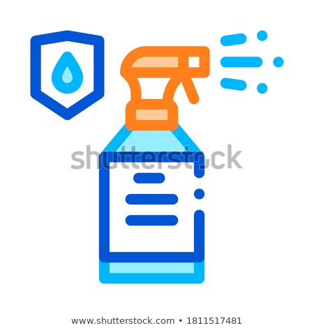 Waterproof Material Spray Vector Thin Line Icon Stock photo © pikepicture