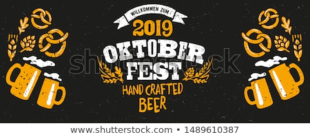 Oktoberfest Poster Big Glass Mug of Craft Beer Stock photo © robuart
