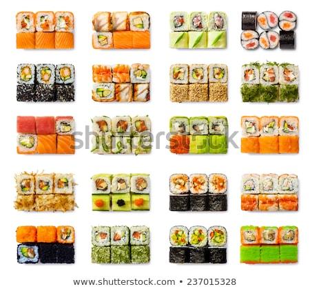 Sushi toczyć zestaw tablicy żywności Zdjęcia stock © OleksandrO