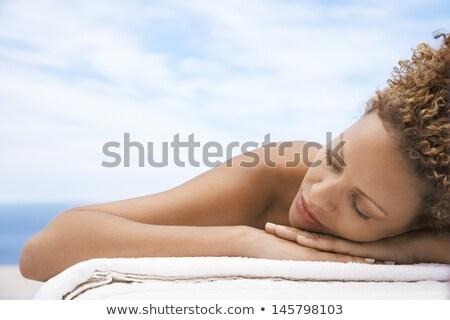 若い女性 寝 屋外 表 魅力的な ストックフォト © Giulio_Fornasar