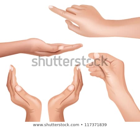 female hand finger showing choice gesture vector stock photo © pikepicture