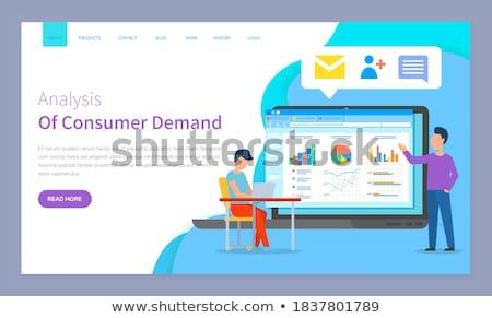 demand planning landing page template stock photo © rastudio